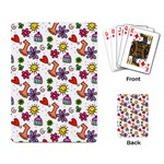 Doodle Pattern Playing Card Back