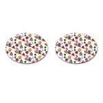 Doodle Pattern Cufflinks (Oval) Front