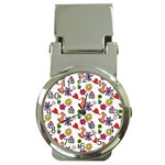 Doodle Pattern Money Clip Watches Front