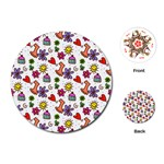 Doodle Pattern Playing Cards (Round)  Front