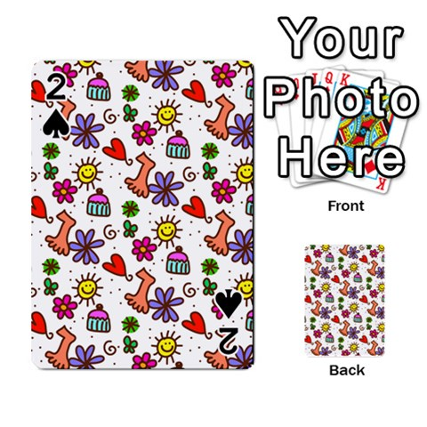 Doodle Pattern Playing Cards 54 Designs