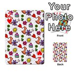 Doodle Pattern Playing Cards 54 Designs  Front - Heart2
