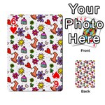 Doodle Pattern Playing Cards 54 Designs  Front - Heart6