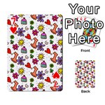 Doodle Pattern Playing Cards 54 Designs  Front - Heart7
