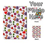 Doodle Pattern Playing Cards 54 Designs  Front - Heart9