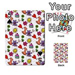 Doodle Pattern Playing Cards 54 Designs  Front - Spade5