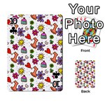 Doodle Pattern Playing Cards 54 Designs  Front - Club10