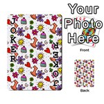 Doodle Pattern Playing Cards 54 Designs  Front - Joker1