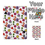 Doodle Pattern Playing Cards 54 Designs  Front - Spade8