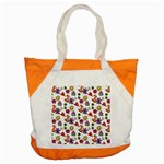 Doodle Pattern Accent Tote Bag Front