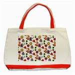 Doodle Pattern Classic Tote Bag (Red) Front