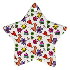 Doodle Pattern Star Ornament (Two Sides)