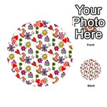 Doodle Pattern Playing Cards 54 (Round)  Front - Heart8