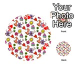 Doodle Pattern Playing Cards 54 (Round)  Front - HeartK