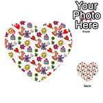 Doodle Pattern Playing Cards 54 (Heart)  Front - Heart9