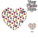 Doodle Pattern Playing Cards 54 (Heart)  Front - ClubQ