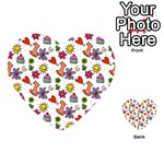 Doodle Pattern Playing Cards 54 (Heart)  Back