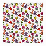 Doodle Pattern Medium Glasses Cloth Front