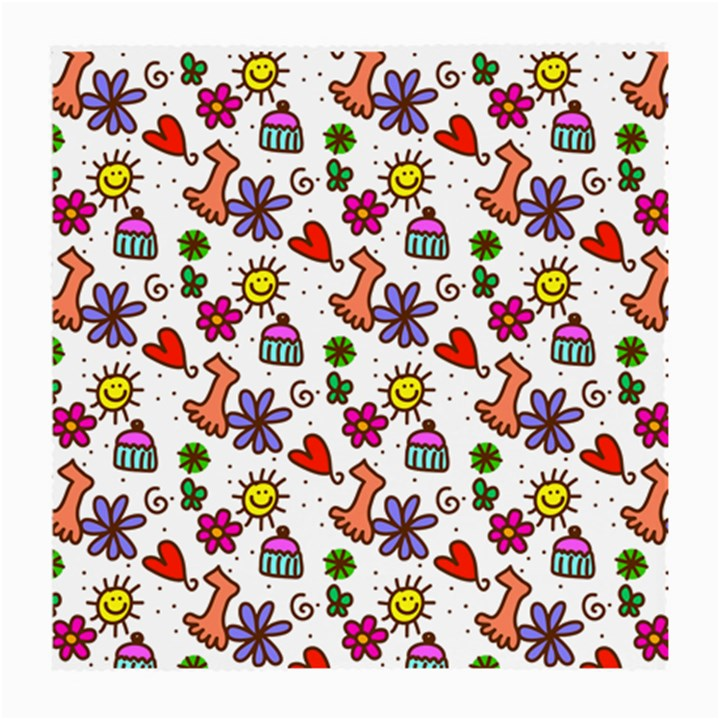 Doodle Pattern Medium Glasses Cloth