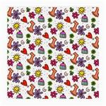Doodle Pattern Medium Glasses Cloth (2-Side) Back