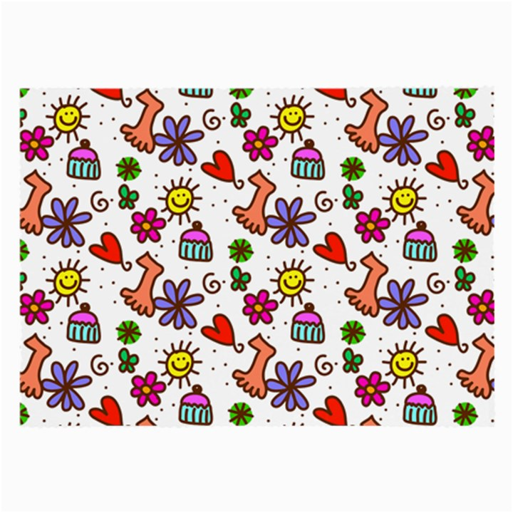 Doodle Pattern Large Glasses Cloth