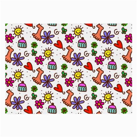 Doodle Pattern Large Glasses Cloth (2-Side)