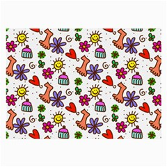 Doodle Pattern Large Glasses Cloth (2-Side)