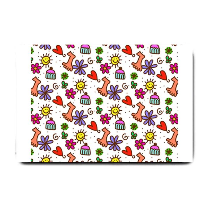 Doodle Pattern Small Doormat