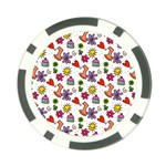 Doodle Pattern Poker Chip Card Guards Front