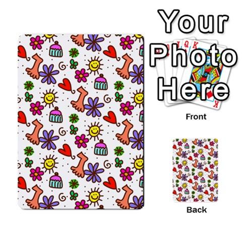 Doodle Pattern Multi-purpose Cards (Rectangle)