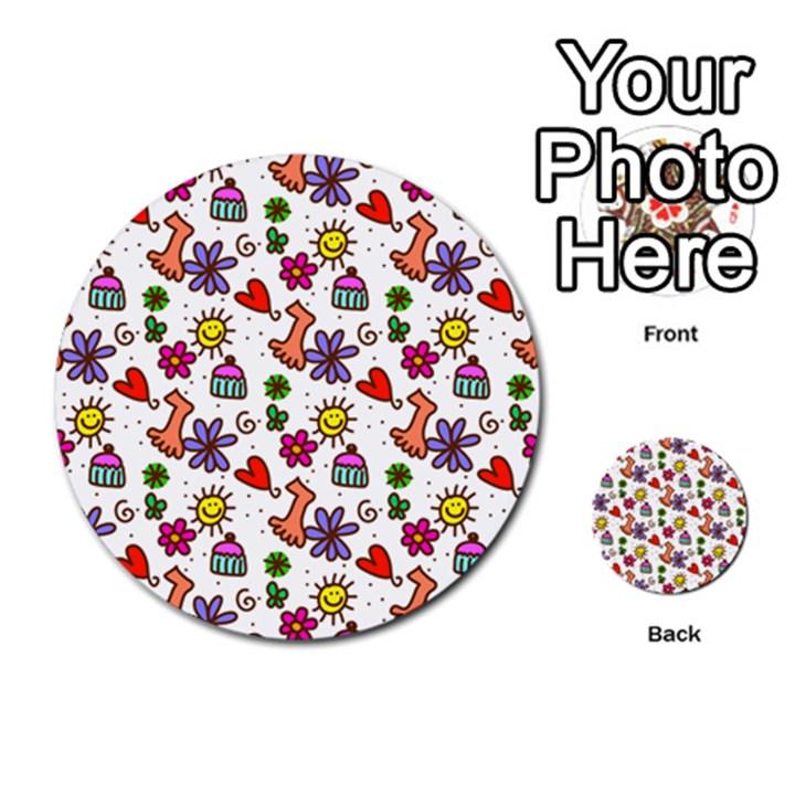 Doodle Pattern Multi-purpose Cards (Round)