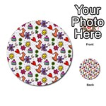 Doodle Pattern Multi-purpose Cards (Round)  Back 1
