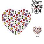 Doodle Pattern Multi-purpose Cards (Heart)  Back 49