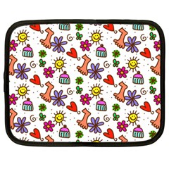 Doodle Pattern Netbook Case (Large)
