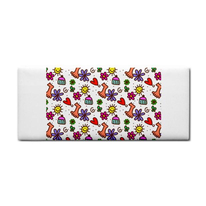 Doodle Pattern Hand Towel