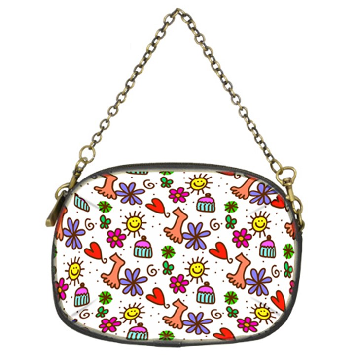 Doodle Pattern Chain Purses (Two Sides)