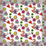 Doodle Pattern Mini Canvas 8  x 8  8  x 8  x 0.875  Stretched Canvas