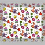 Doodle Pattern Canvas 10  x 8  10  x 8  x 0.875  Stretched Canvas