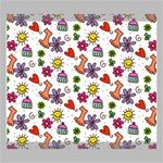 Doodle Pattern Canvas 20  x 16  20  x 16  x 0.875  Stretched Canvas