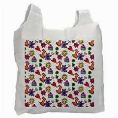 Doodle Pattern Recycle Bag (Two Side)