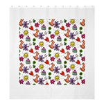 Doodle Pattern Shower Curtain 66  x 72  (Large)  58.75 x64.8 Curtain