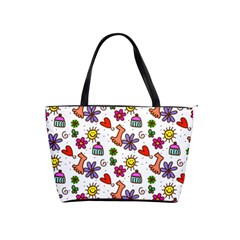 Doodle Pattern Shoulder Handbags