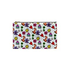 Doodle Pattern Cosmetic Bag (Small)