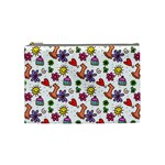 Doodle Pattern Cosmetic Bag (Medium)  Front