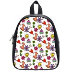 Doodle Pattern School Bags (Small)  Front