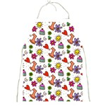Doodle Pattern Full Print Aprons Front