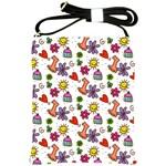 Doodle Pattern Shoulder Sling Bags Front