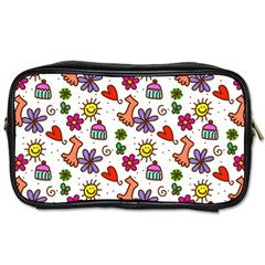 Doodle Pattern Toiletries Bags 2-Side