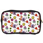 Doodle Pattern Toiletries Bags 2-Side Front