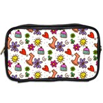 Doodle Pattern Toiletries Bags 2-Side Back
